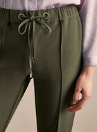 Slim Leg Drawstring Pants, Green