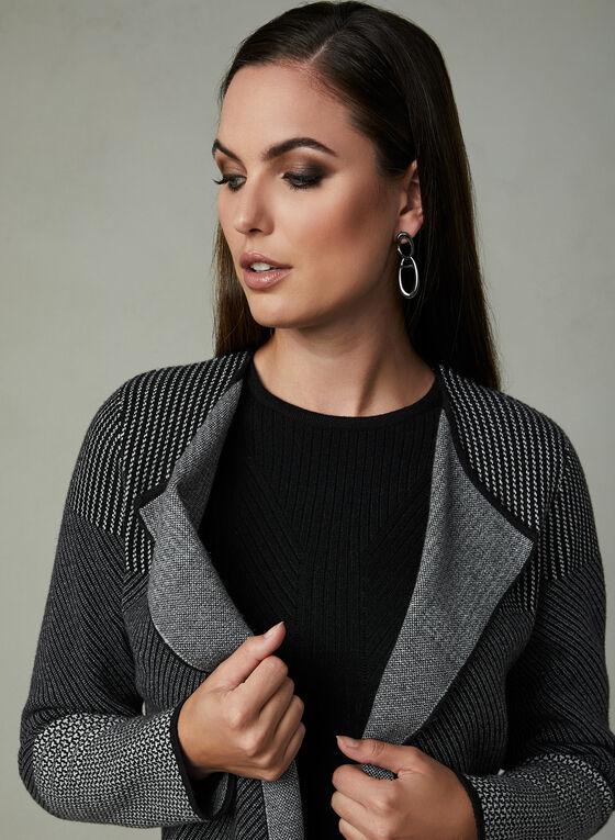 Pull en tricot à manches longues, Noir, hi-res
