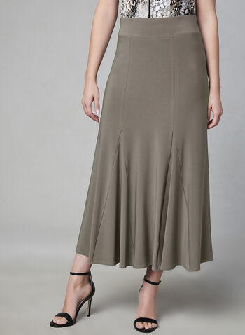 Jersey Maxi Skirt, Brown, hi-res