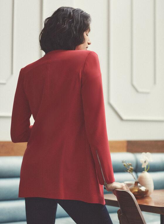 Vex - Blazer style redingote à œillets, Rouge