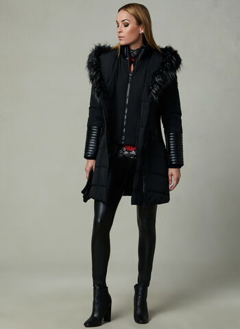 Northside - Faux Down Coat, Black, hi-res