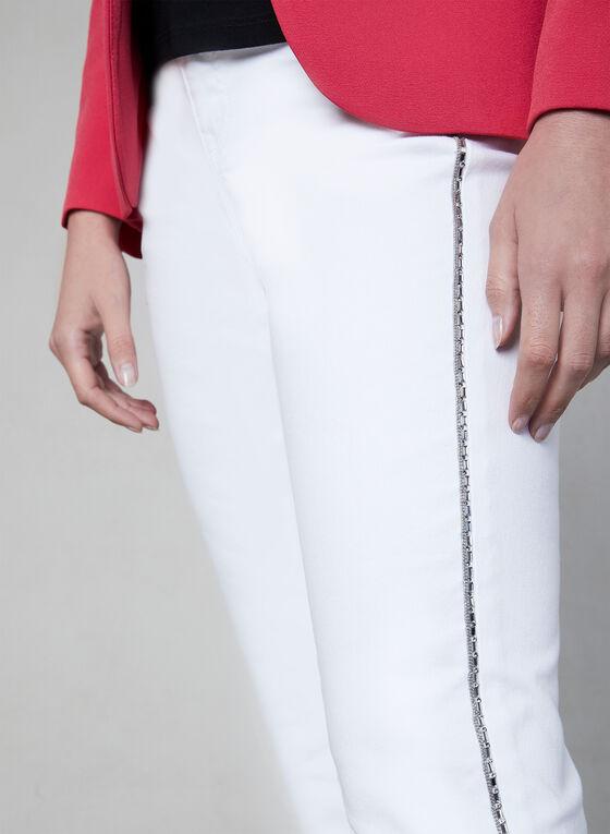 Capri à détails cristaux, Blanc, hi-res
