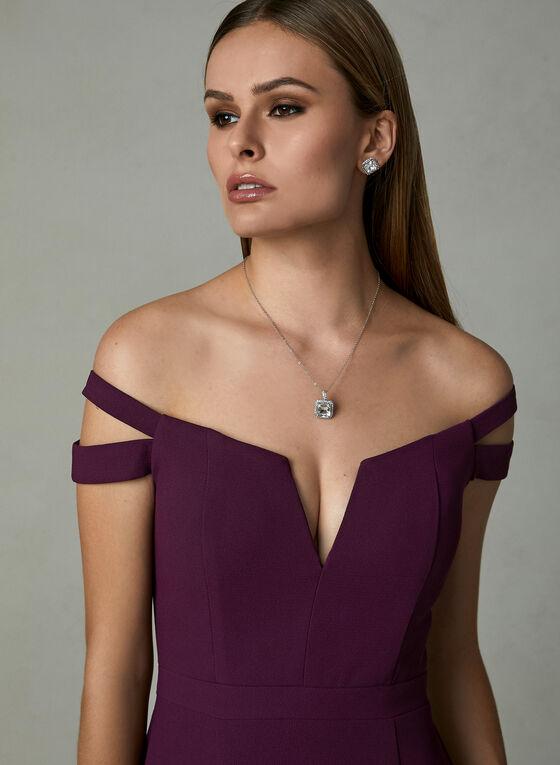 BA Nites - Off The Shoulder Gown , Purple, hi-res