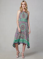 Maggy London - Paisley Print Sleeveless Dress, White, hi-res
