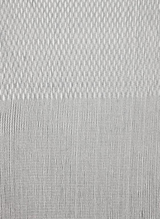Knit Fringe Scarf, Silver, hi-res