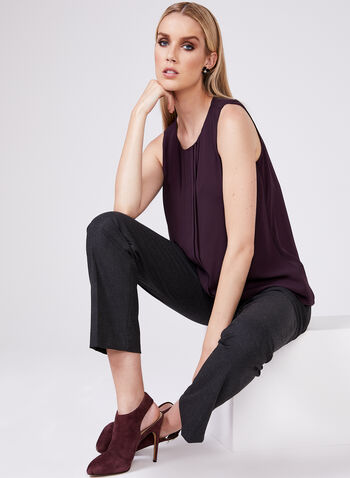 Sleeveless Chiffon Blouse, Purple, hi-res