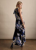Frank Lyman - Floral Print High-Low Dress, Blue