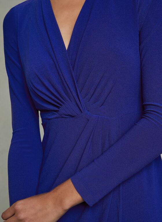 Maggy London - Robe drapée style enveloppe, Bleu