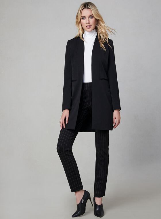 Veste longue style redingote, Noir, hi-res