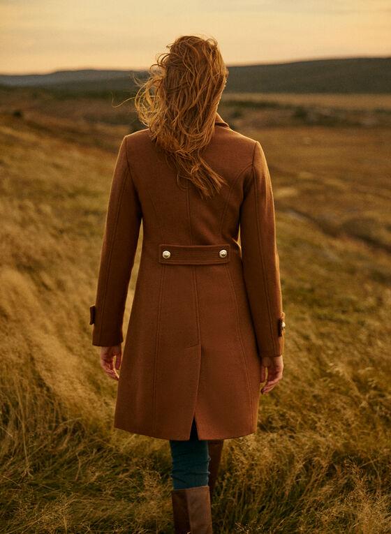Essential Stretch Wool Blend Coat, Brown