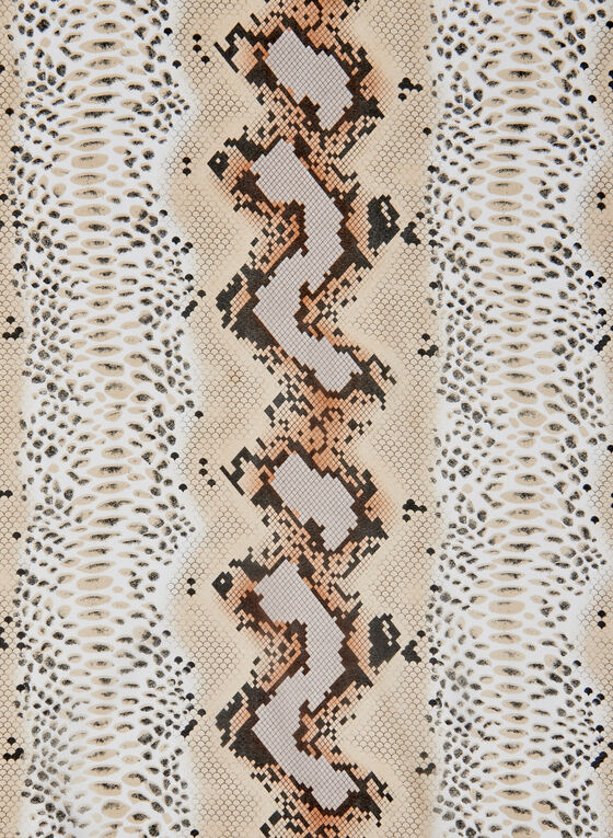 Animal Print Scarf, Brown