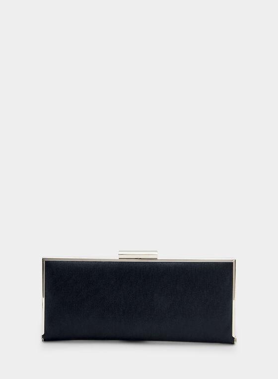 Pochette scintillante rectangulaire, Bleu