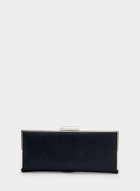 Pochette scintillante rectangulaire, Bleu, hi-res