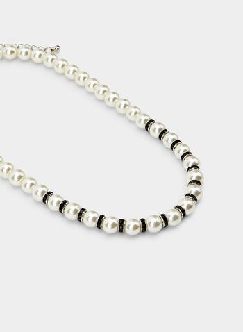 Collier court en perles, Noir, hi-res,  collier, court, perles, rondelles, automne hiver 2019