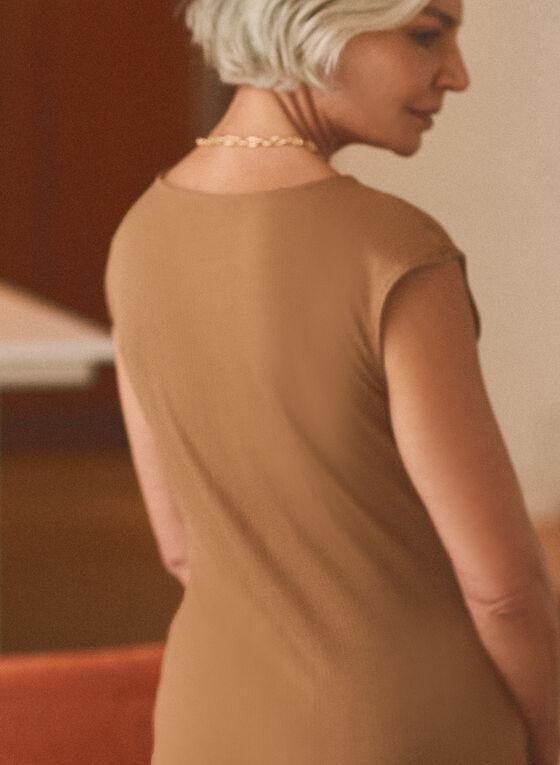 Cap Sleeve T-Shirt, Brown