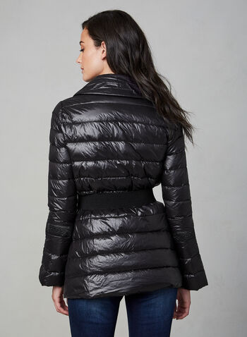 Quilted Packable Down Coat, Black,  fall winter 2019, packable, down, rose gold, coat