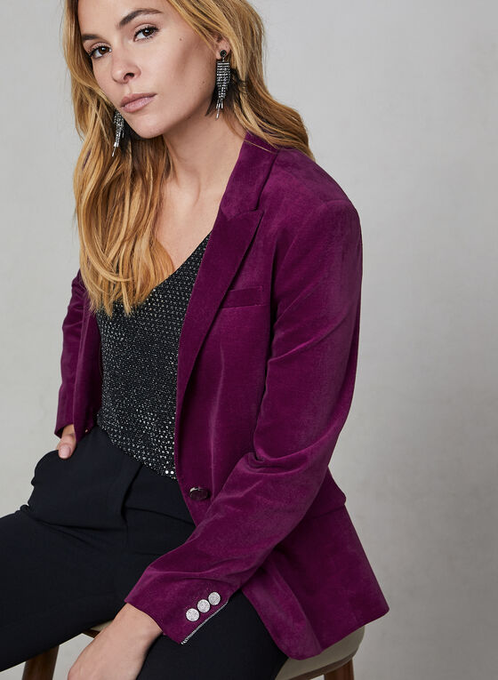 Velvet Blazer, Purple