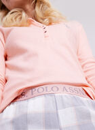 U.S. Polo Assn. - Ensemble pyjama pastel en flanelle, Rose, hi-res