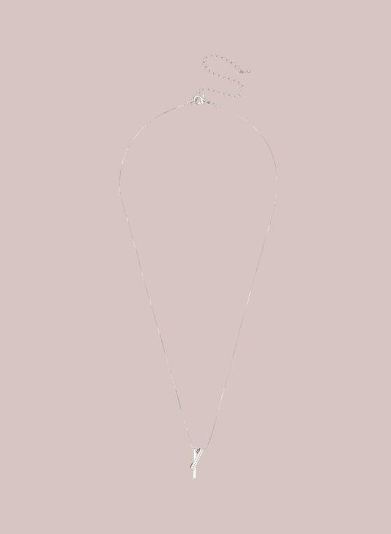 Collier à pendentifs entrelacés , Argent