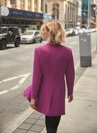 Zipper Detail Redingote, Purple