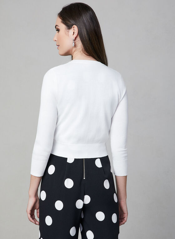 Karl Lagerfeld Paris - Pearl Button Bolero, Off White