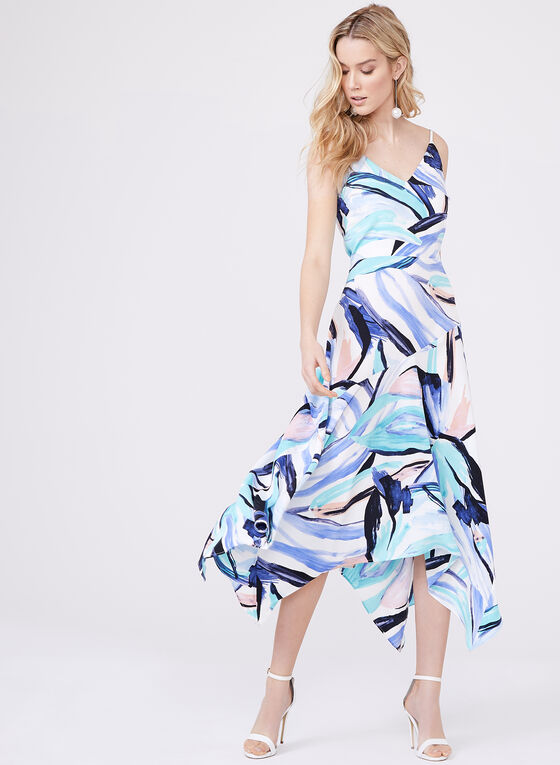 Clover and Sloane - Abstract Print Dress , Multi, hi-res