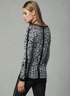 Elena Wang - Printed Pullover, Black, hi-res