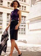 Sleeveless Knit Top, Purple
