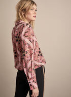 Baroque Print Blouse, Red