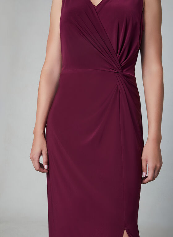 Alex Evenings - Robe longue en jersey, Violet, hi-res