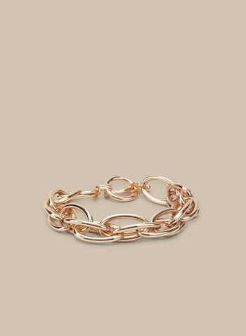 Oval Link Chain Bracelet, Gold,  bracelet, metallic bracelet, metallic, link chain, spring 2020, summer 2020