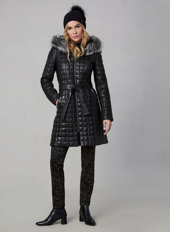 Sicily - Quilted Leather Coat, Black
