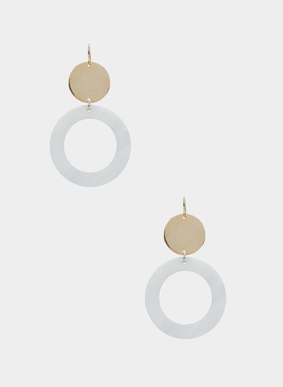 Boucles d'oreilles à disque et anneau, Or