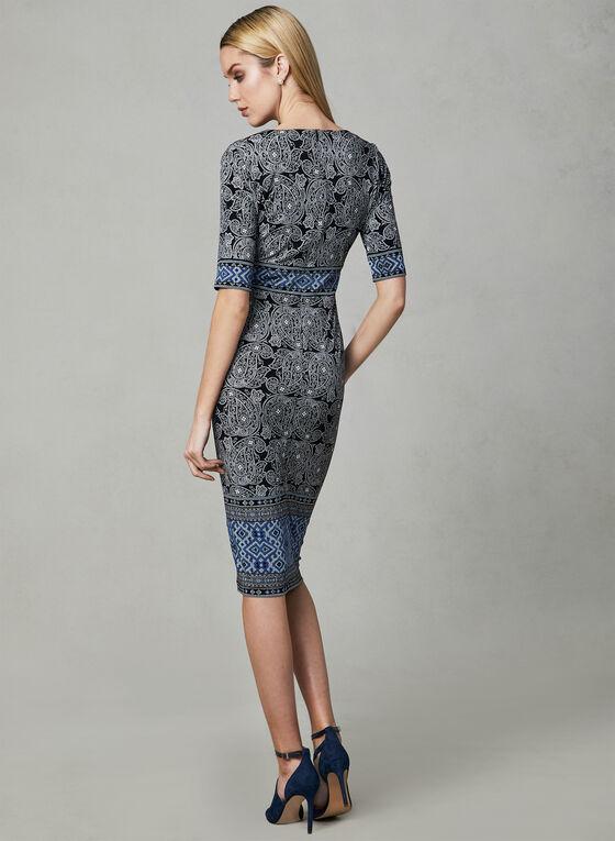 Maggy London - Paisley Print Dress, Black