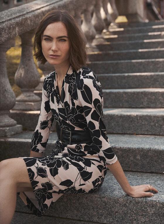 Joseph Ribkoff - Floral Belted Dress, Black