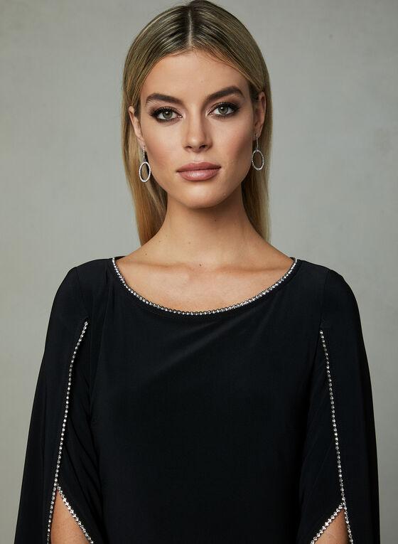 Joseph Ribkoff - Crystal Trim Sheath Dress, Black, hi-res