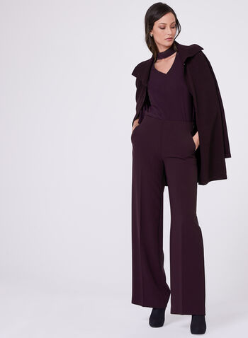 Soho Slimming Fit Wide Leg Pants, Purple, hi-res