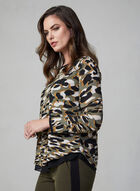 Camouflage Print Top, Green