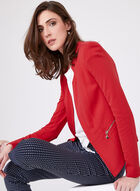 Vex - Long Sleeve Tailored Look Jersey Blazer, Red, hi-res