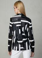 Frank Lyman - Blazer zippé à motif abstrait, Noir, hi-res