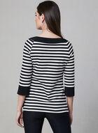 Frank Lyman - Stripe Print Top, Black, hi-res
