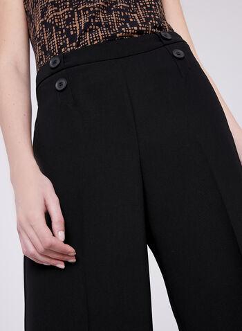 Jupe-culotte Soho avec boutons décoratifs, Noir, hi-res
