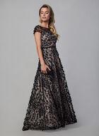 Karl Lagerfeld - Robe de soirée à appliqués floraux , Noir