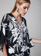 Joseph Ribkoff - Floral Print Jersey Top, Black, hi-res