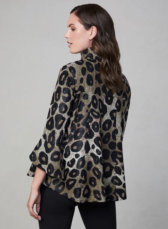 Frank Lyman - Leopard Print Jacket, Black