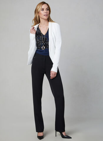 Lauren Fit Straight Leg Pants, Black,  bi-stretch, stretchy, fall 2019, winter 2019, mid rise, tailored fit, workwear