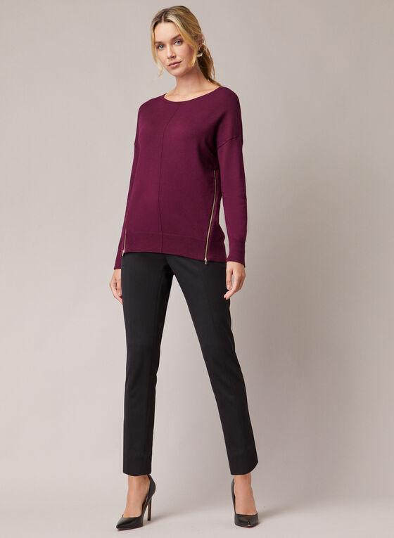 Pull en tricot à zips, Violet