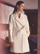 Novelti - Trench boutonné à ceinture, Blanc