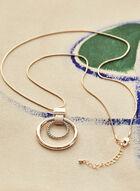 Collier à pendentif à anneaux , Jaune