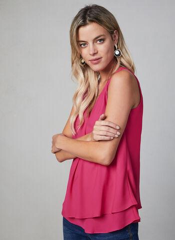 Sleeveless Chiffon Top, Multi,  fall 2019, winter 2019, chiffon, sleeveless, layered